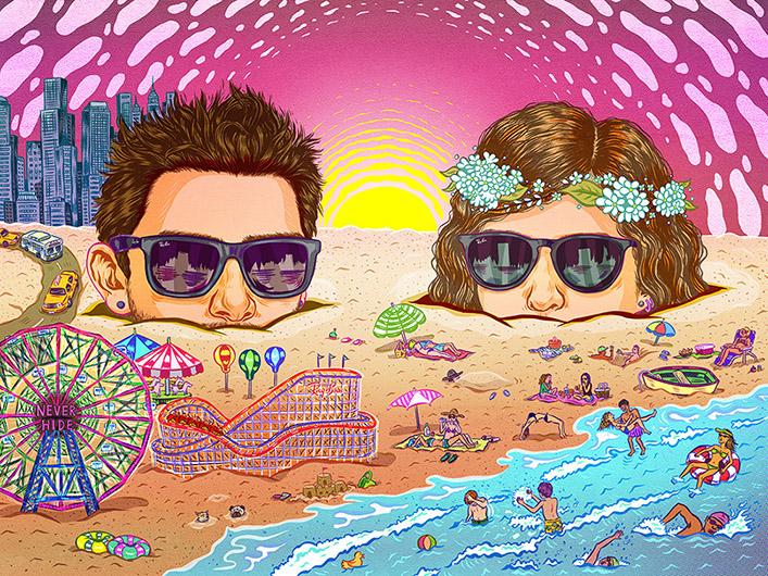 Justin & Erika <br> Ray Ban
