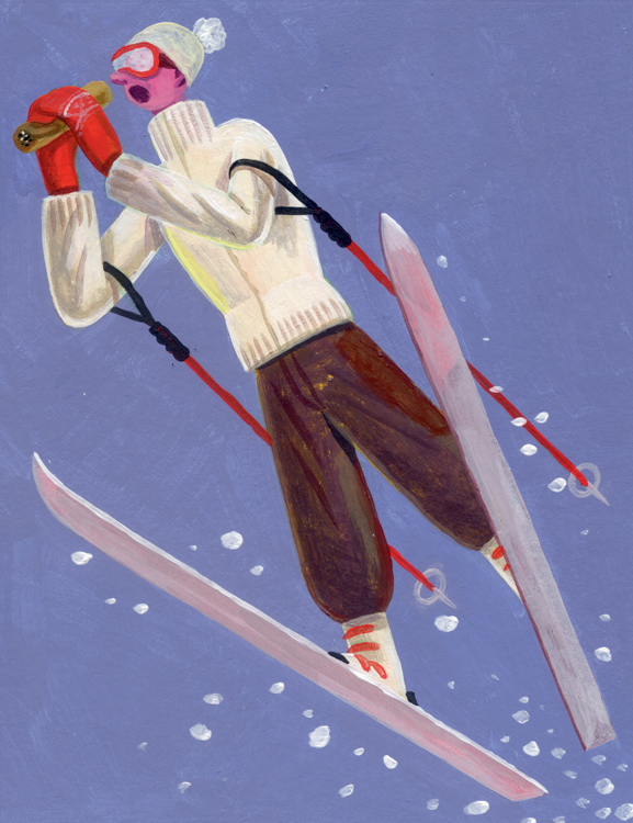 Burrito Skiing <br> Departures Magazine