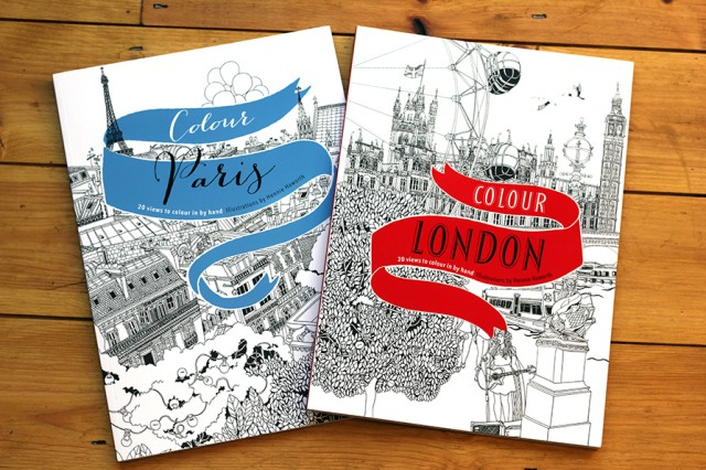 Paris & London - Coloring Books <br> Ivy Press