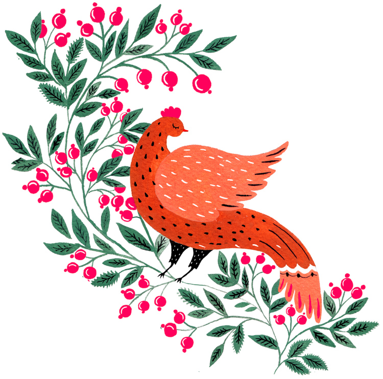 Pheasant in the Berries
