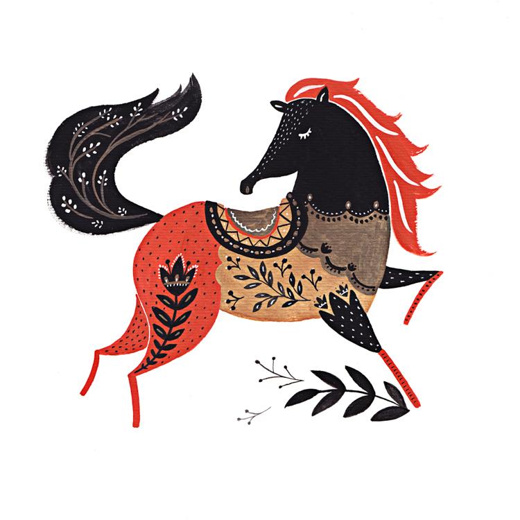 Decorated Horse
