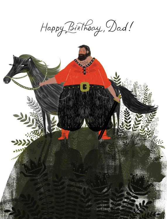 Happy Birthday Dad - card <br> Red Cap Cards
