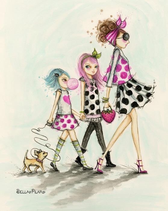 Girl Time Walk