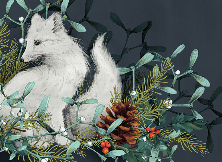 Arctic Fox <br> Holiday Card