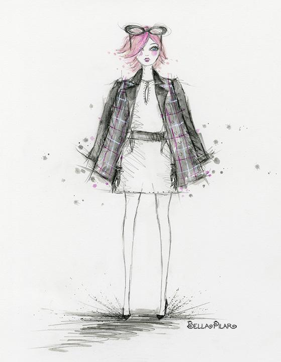 Cora Wears a Plaid Coat