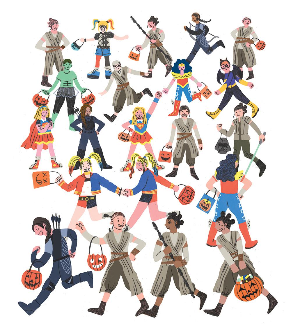 Female Superheroes<br>Boston Globe