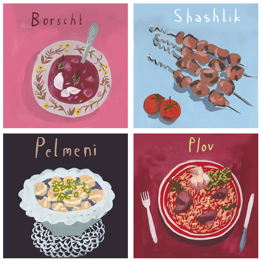 Russian Dishes <br> Knight Library