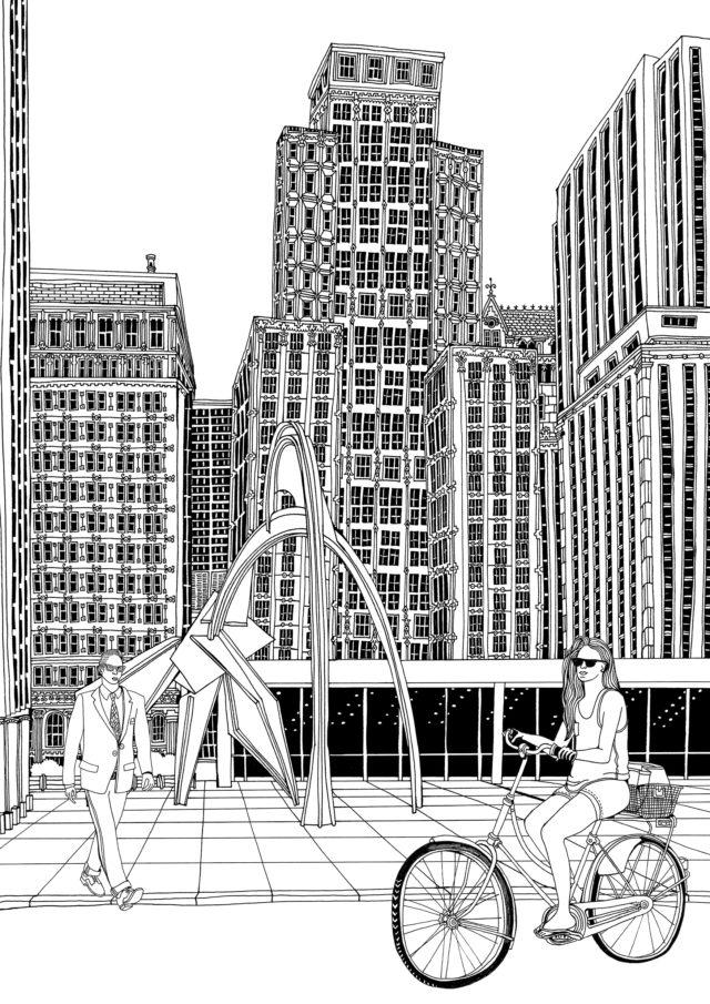 Chicago - Color Book Page <br> Ivy Press