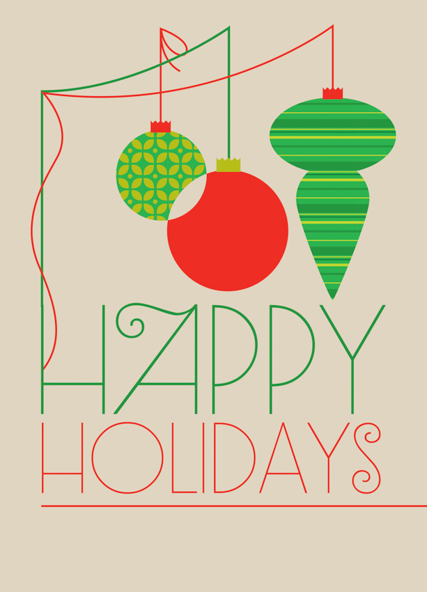 Happy Holiday Ornaments <br> Eleanor Grosch