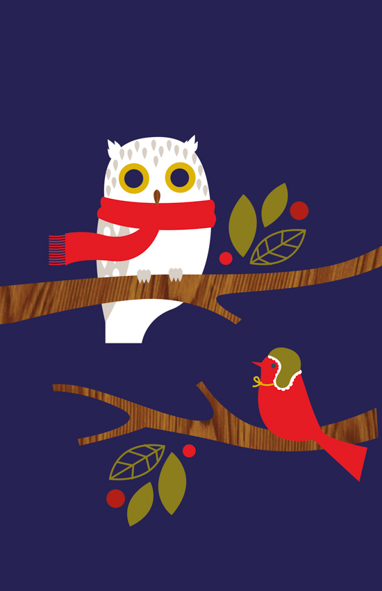 Holiday Owl <br> Eleanor Grosch