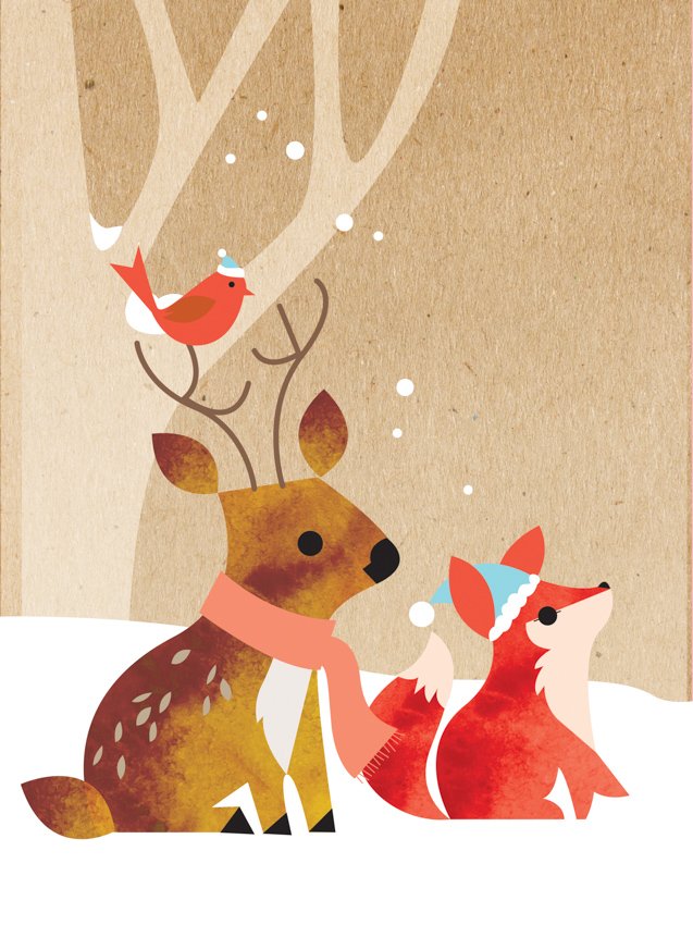 Snowy Animals Duo <br> Eleanor Grosch