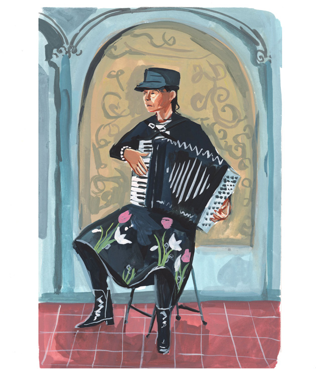 Cranky Accordion Player