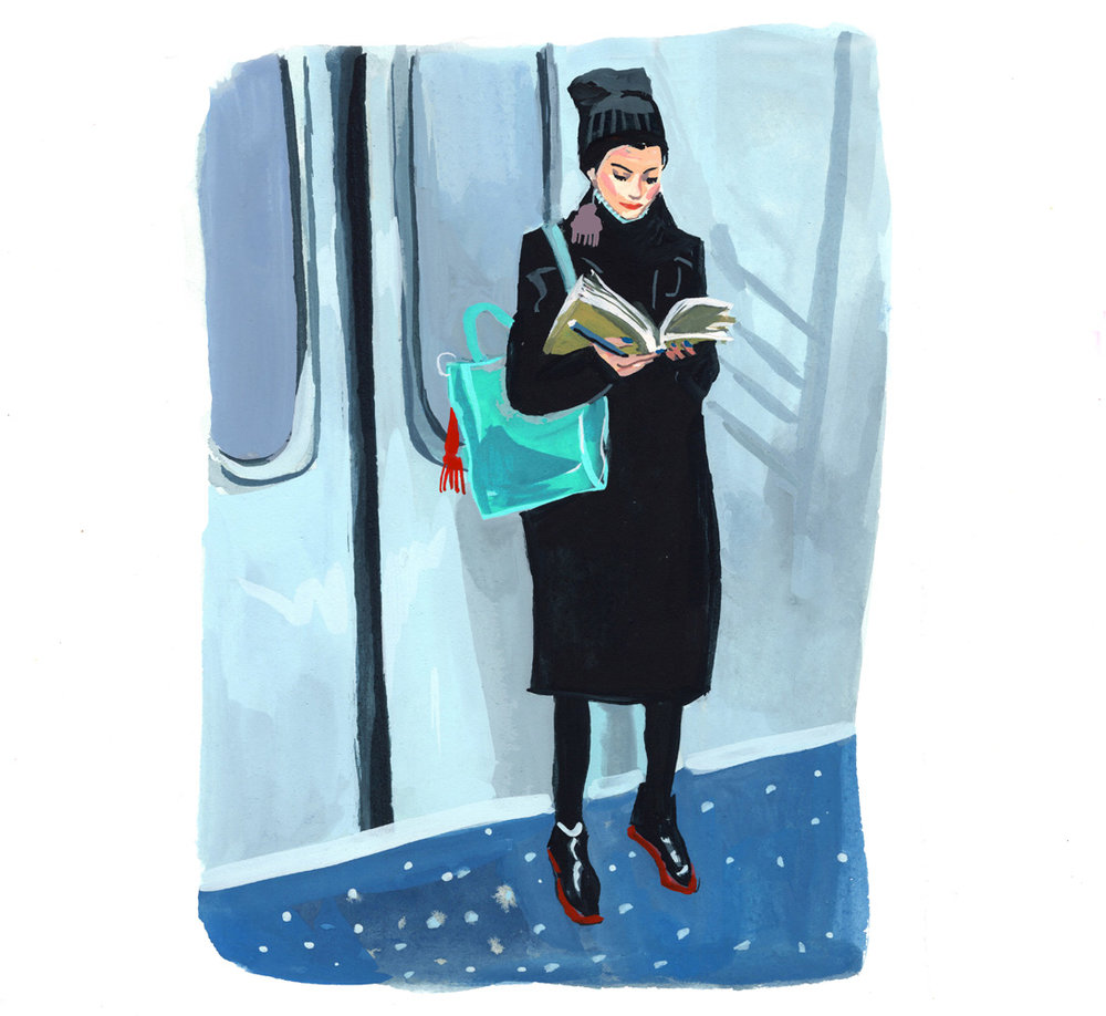 Studying on the Subway<br>Jenny Kroik