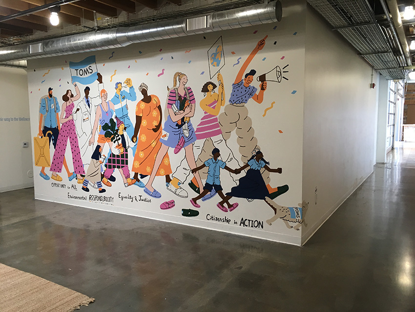 Headquarters mural <br> Toms