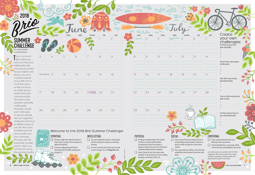 June / July Calendar <br> Brio Magazine