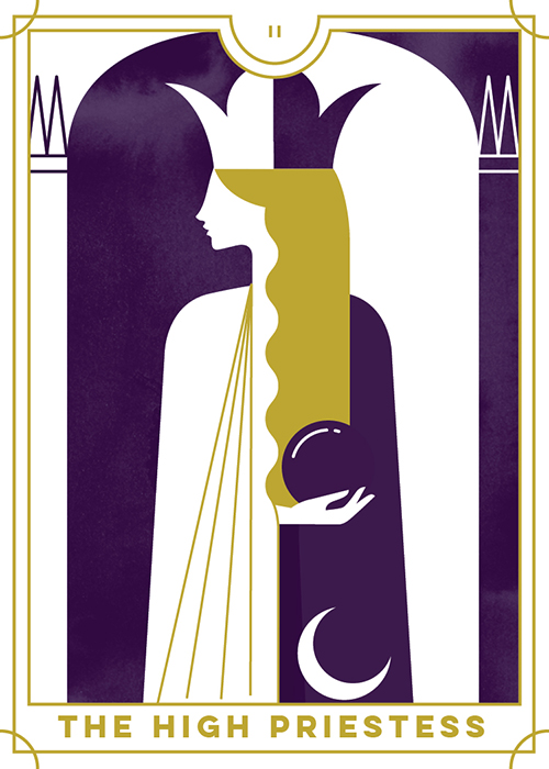 The High Priestess - Everyday Tarot <br> Running Press