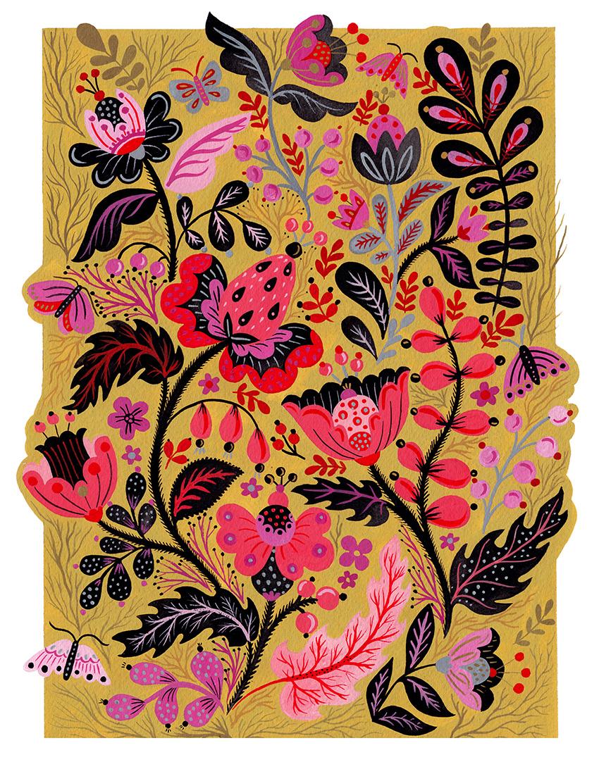 Pink Flower Motives