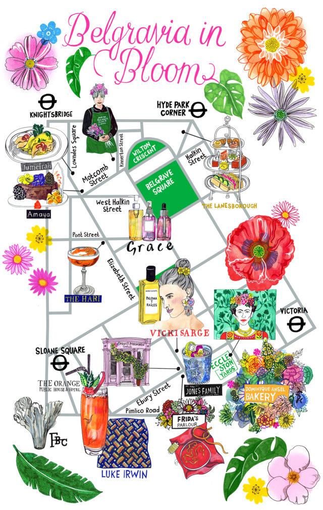 Belgravia in Bloom Map