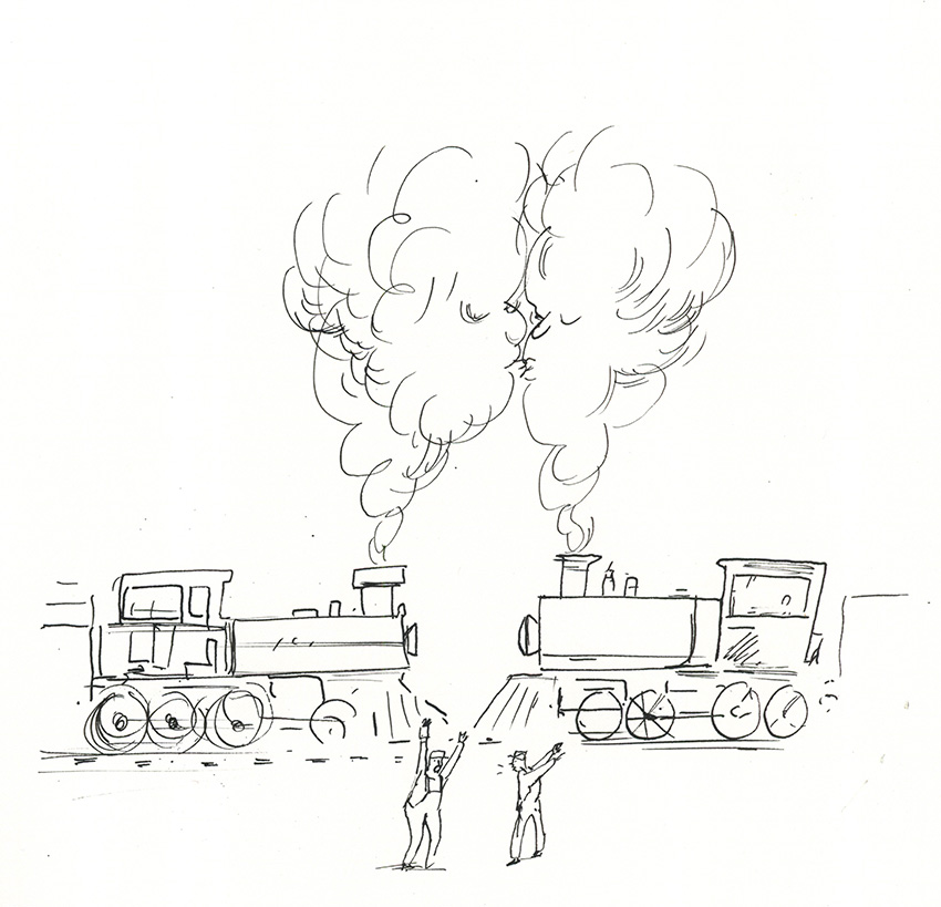 Kissing Trains