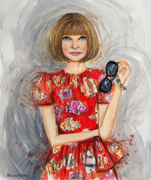 Anna Wintour in Dolce&Gabbana