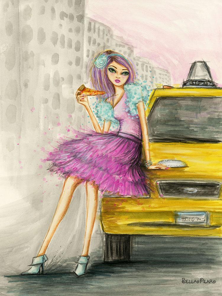 Harper and a Slice of Joe's Pizza – Bella Pilar