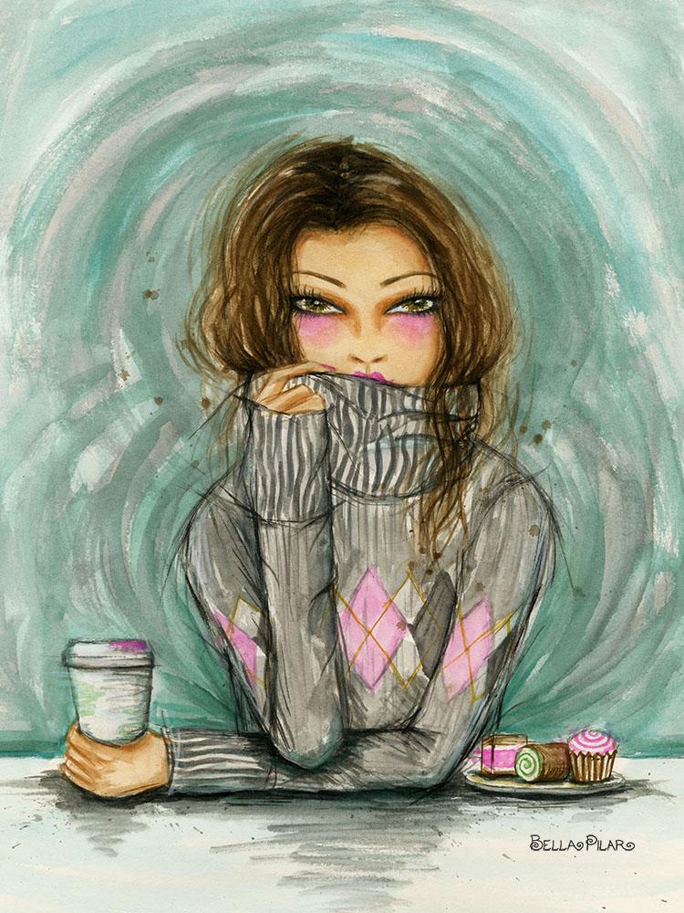 Gweneth loves a cozy knit - Bella Pilar