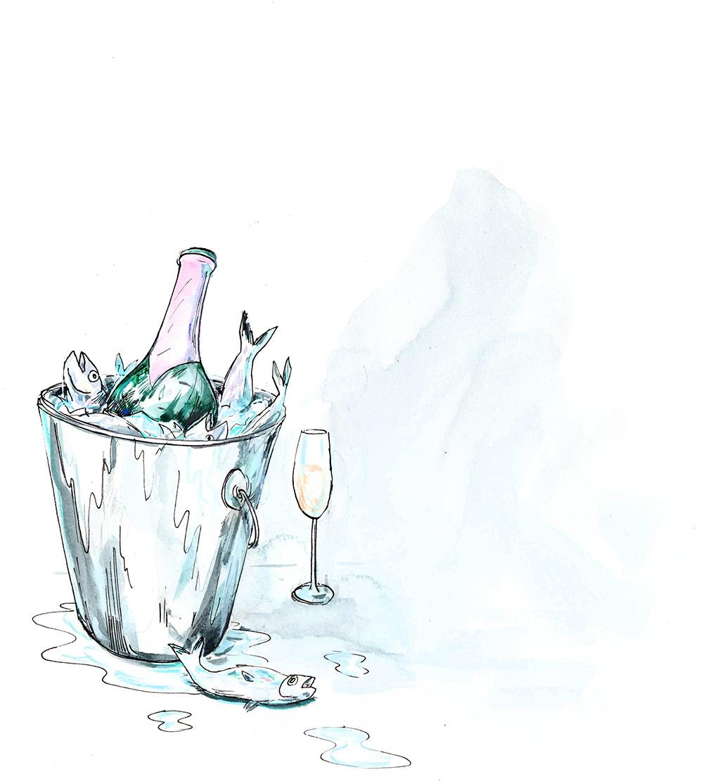 Fish and Champagne - Walrus