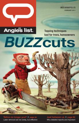 SPJ 2012, PLA 2012, GDUA 2011 - ARTIST: Red Nose StudioTITLE: BUZZcutsCLIENT: Angie's ListAWARD: Best Cover