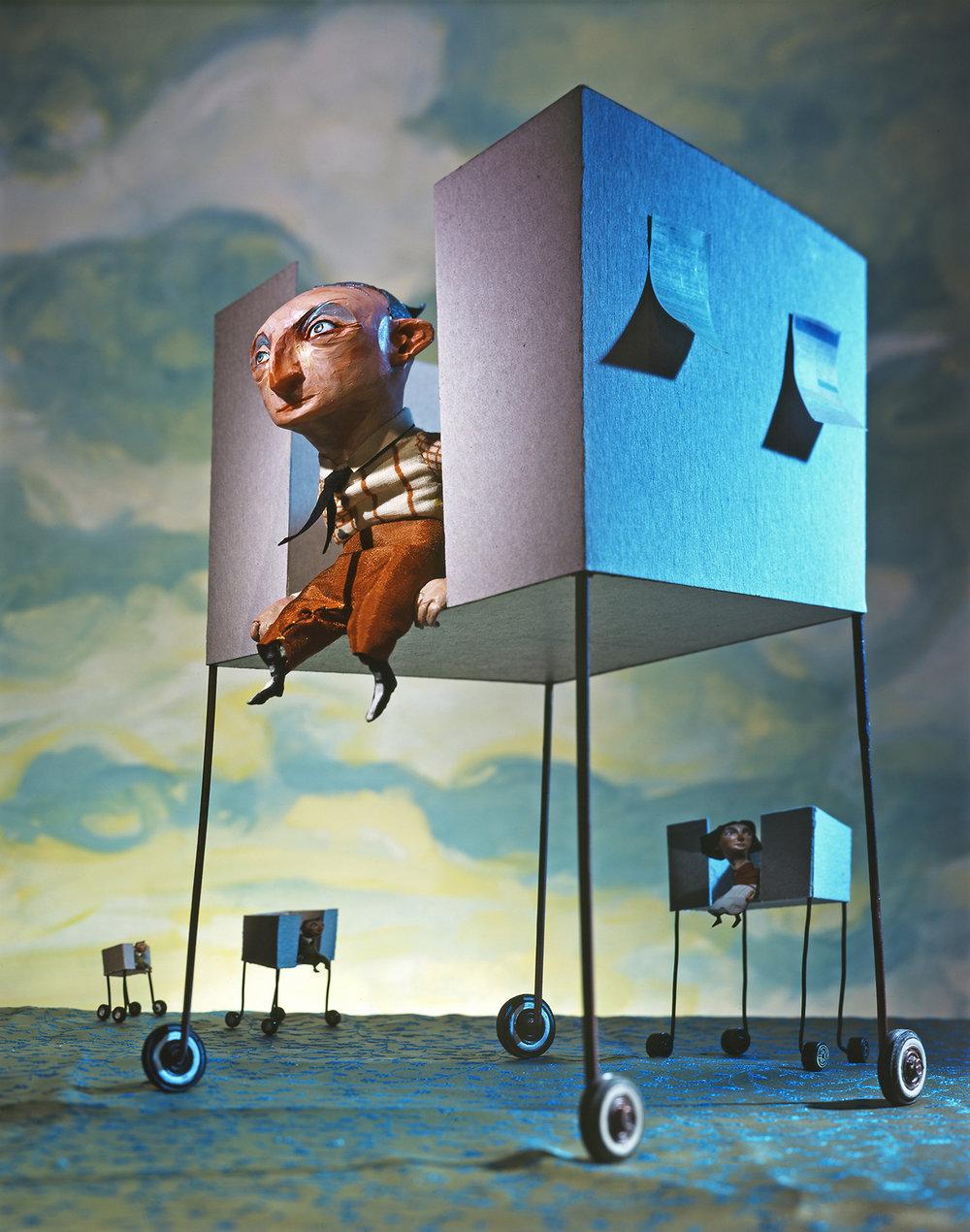 3x3 no.5 2008 - ARTIST: Red Nose StudioTITLE: Rolling CubiclesCLIENT: Plansponsor