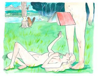 NMA 2010 SILVER - ARTIST: Graham RoumieuTITLE: Erotic LiteratureCLIENT: This Magazine