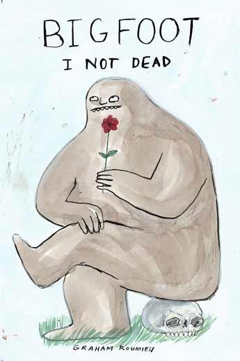 AI 28 2009, SOI 51 2009, D&AD 2009 - ARTIST: Graham RoumieuTITLE: Bigfoot: I Not Dead [1 of 3]CLIENT: Plume Books