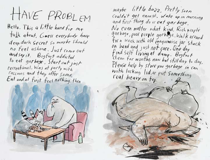 AI 28 2009, SOI 51 2009, D&AD 2009 - ARTIST: Graham RoumieuTITLE: Bigfoot: I Not Dead [2 of 3]CLIENT: Plume Books