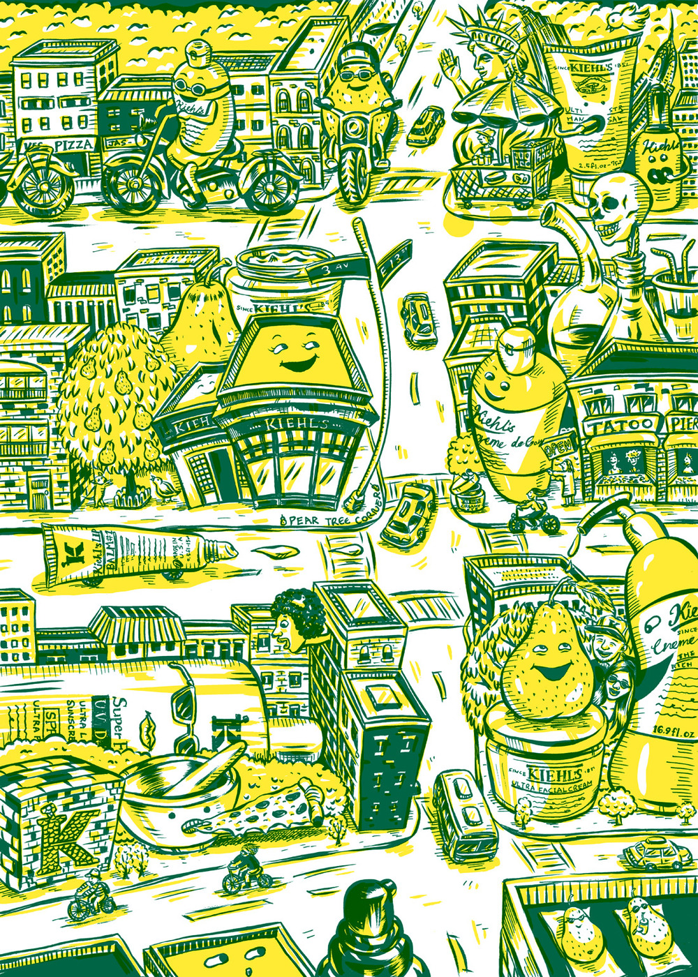 HOW 2013, SOI 55 2012 - ARTIST: Jungyeon RohTITLE: Map [Series, 1 of 2]CLIENT: Kiehl's
