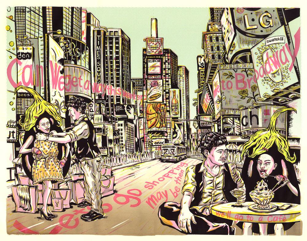 ADC 90 2011 Gold, SOILA 48 Silver, Print 2011, SOI 53 2011, AI 30 2011, CQ 22 - ARTIST: Jungyeon RohTITLE: Miss Eggplant's American Boys [9 of 15]