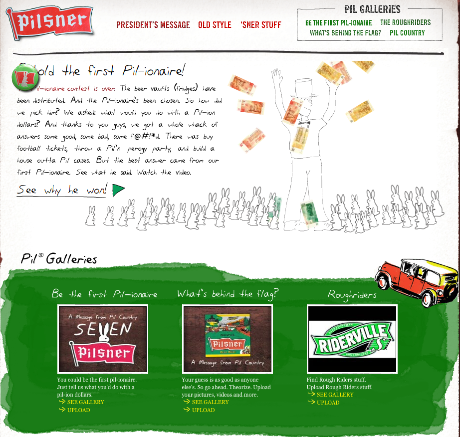AA Interactive Award for Web Design 2008 - ARTIST: Graham RoumieuCLIENT: Molson Old Style Pilsner [2 of 4]
