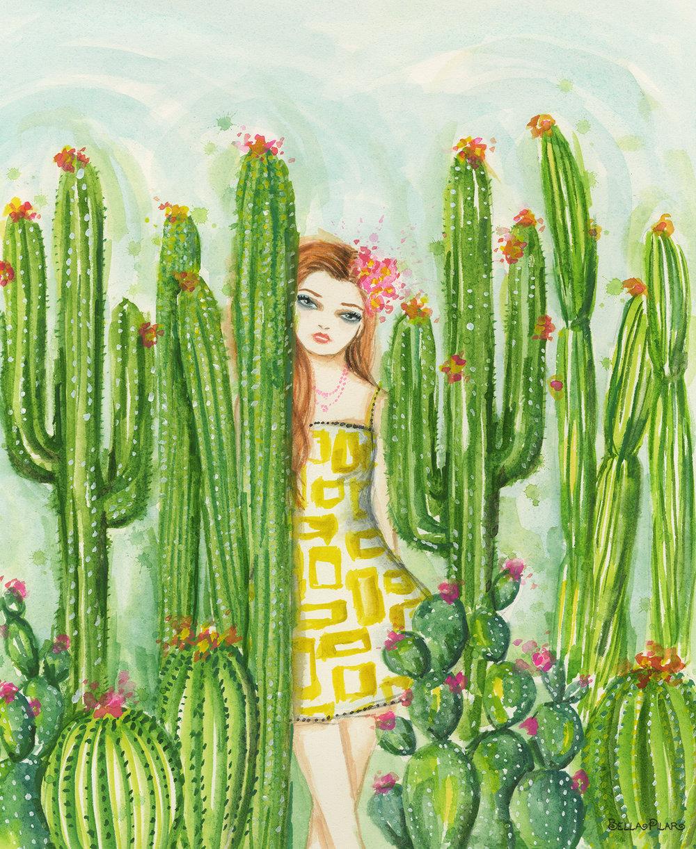 Caitlin in the cactus garden