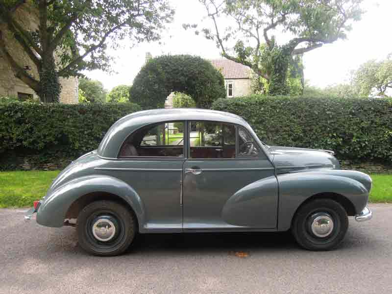 Photo Credit: Caron Cooper/Fosse Farmhouse;  image of Caron's 1954 Morris Minor car.