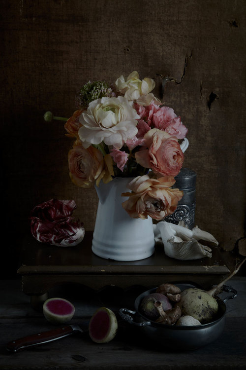 """Still Life 1 (ranunculus and radish)"