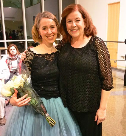 Soprano Christine Fairfield with Sponsor Melanie Griffis-Hooper
