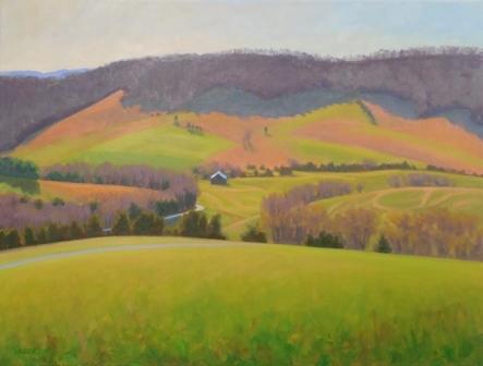 "Spring, 24 X 18"" painted en plein air, artist Elizabeth Sauder"