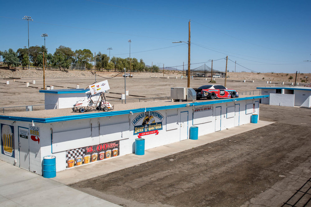 This is our Beer Garden and Souvenir Stand. Our Beer Garden has numerous beers on tap; the Souvenir Stand sells Speedway gear and 50/50 raffle tickets.