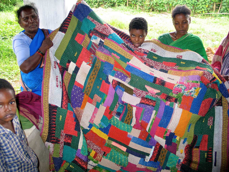 "Kawandi: Quilts of Karnataka   ""....Kawandi are patchwork quilts made by Siddis, the long-residing East Africans of India. Typically crafted by elderly Siddi women who are no longer able to do the primary, and physically grueling, work of farming their Western Ghats homeland in the state of Karnataka these matriarchs..."" Published in UPPERCASE design magazine, 2016: 100-5. [  Read  ]"