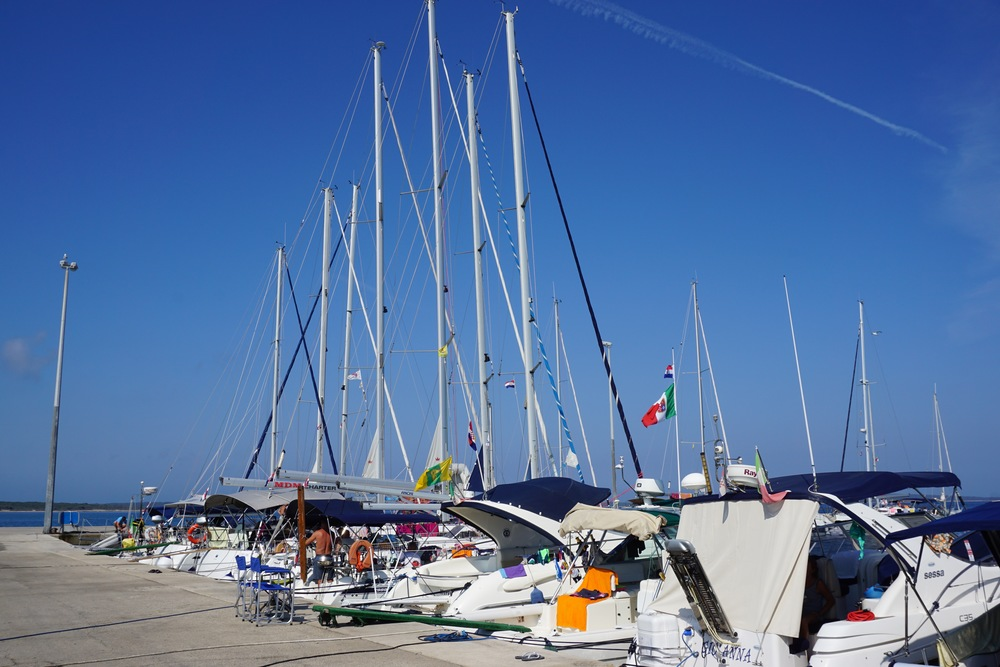 So many sailboats were visiting this day! I loved all the color!