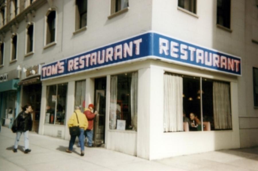Old photo of Tom's Restaurant.