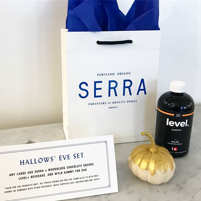 Swing by @serracannabis and grab a Hallows' Eve set 🎃 Your choice of any level+ THC flavor. +)