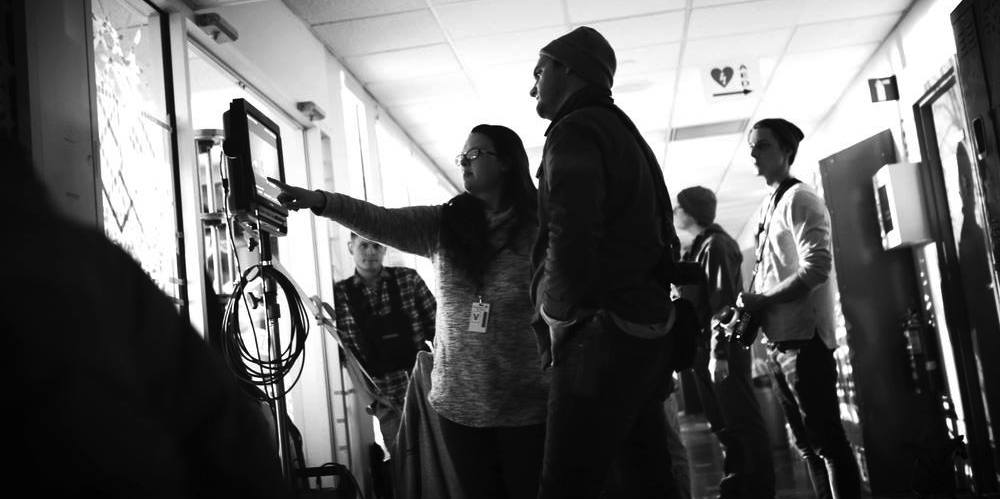 """Platform12's Rachel Diamond and DP Sean Bagley on the set of Delta's """"Mother's Day"""" spot"""