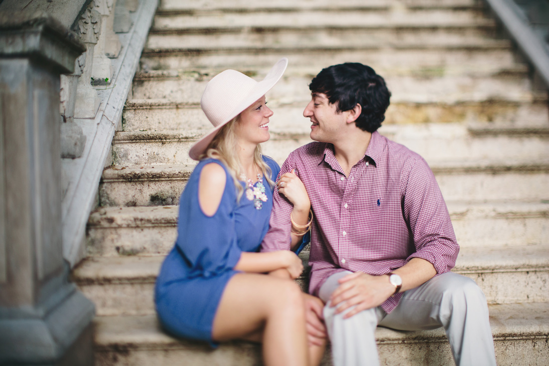 Atlanta, Georgia Engagement Photography. Cator Wolfoord Gardens Engagement Photos. Airy purple photography.
