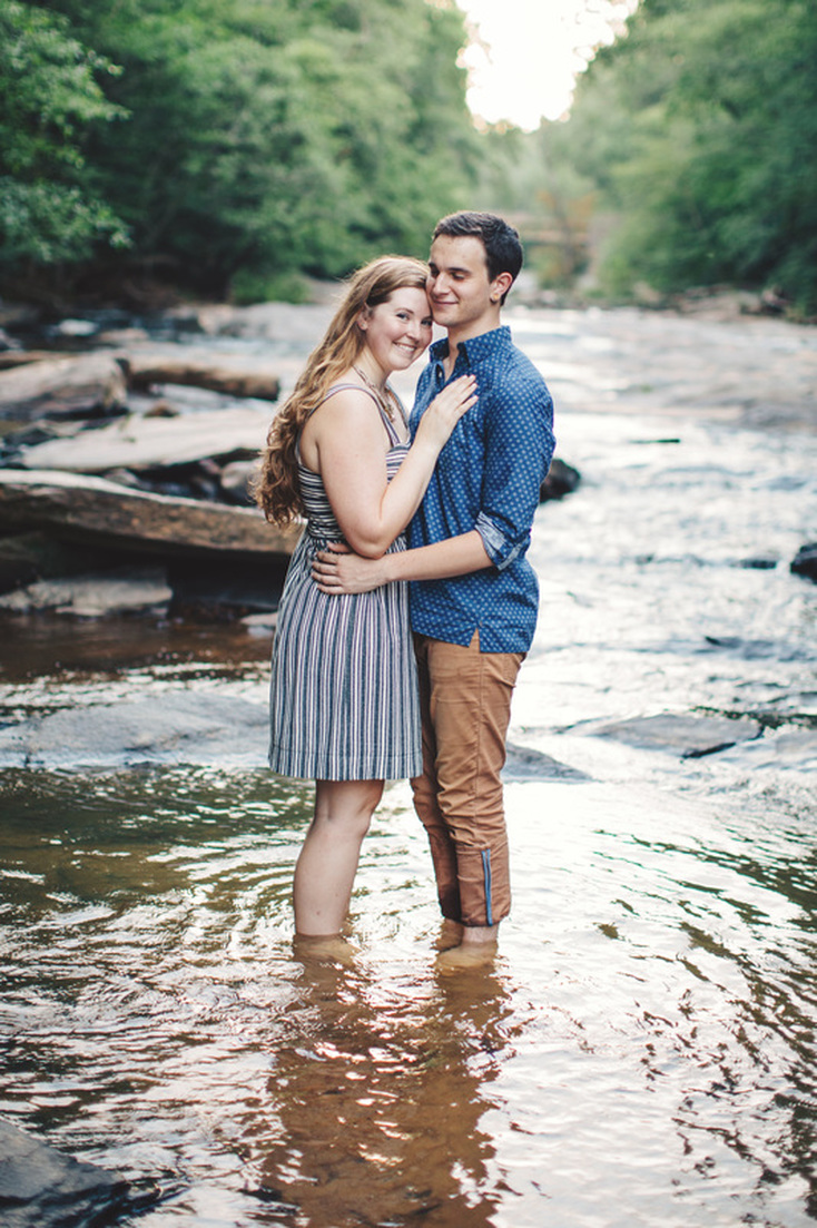 North Georgia Engagement Photography. Engagement Photography. Engagement session by a lake.