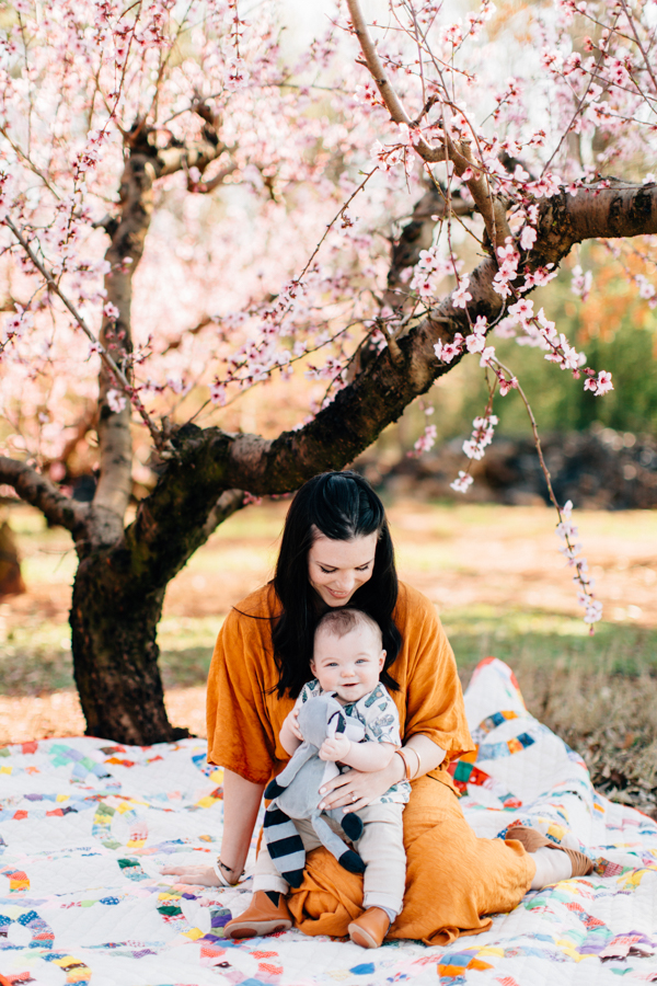 Four Corners Photography Atlanta Family Photographer Peach Blossom Family Session Athens Family Photographer Mills Spring Session 2017