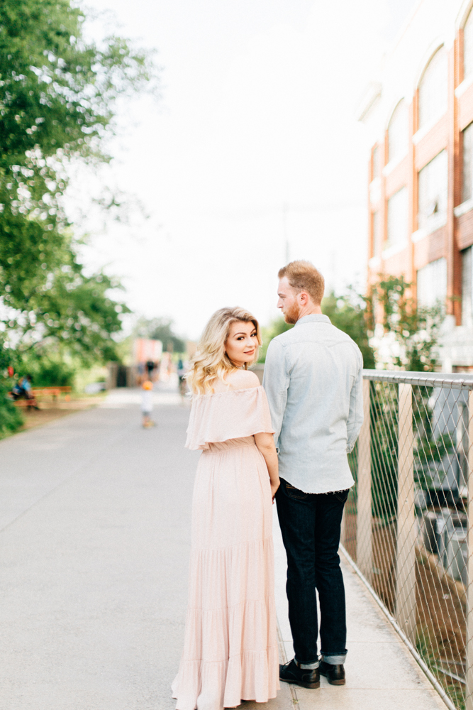 Four Corners Photography Best Atlanta Wedding Photographer Ponce City Market Engagement Session Beltline Engagement Session Kelsie and Austin Engagement